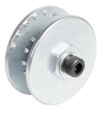 Специальное колесо-держатель для закрепления щеток грубой очистки