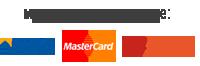 Мы принимаем к оплате: Visa, MasterCaed, PayKeeper