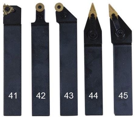 Набор токарных резцов 5 шт. 20 мм.