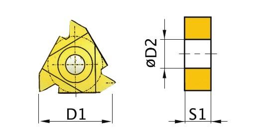 Сменная твердосплавная пластина 16ERAG60