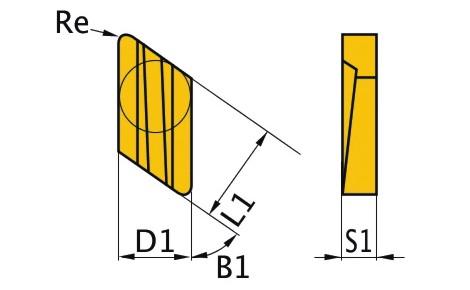 Сменная твердосплавная пластина KNUX160405R