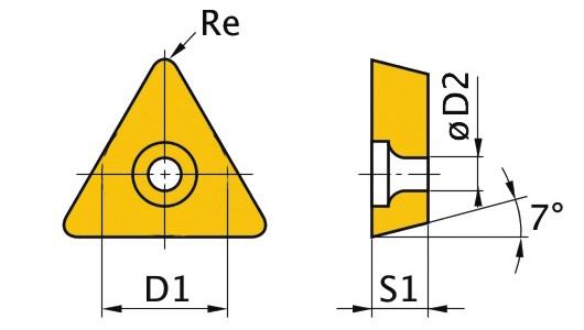 Сменная твердосплавная пластина TCMT090204