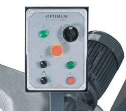 Ленточнопильный станок Opti S350DG: панель управления