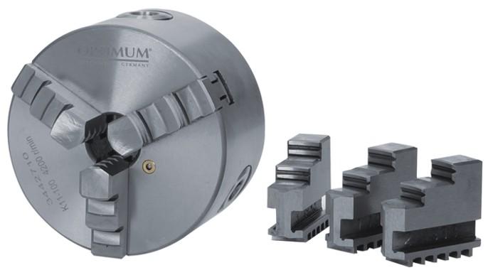 Прецизионный трехкулачковый токарный патрон Optimum Camlock