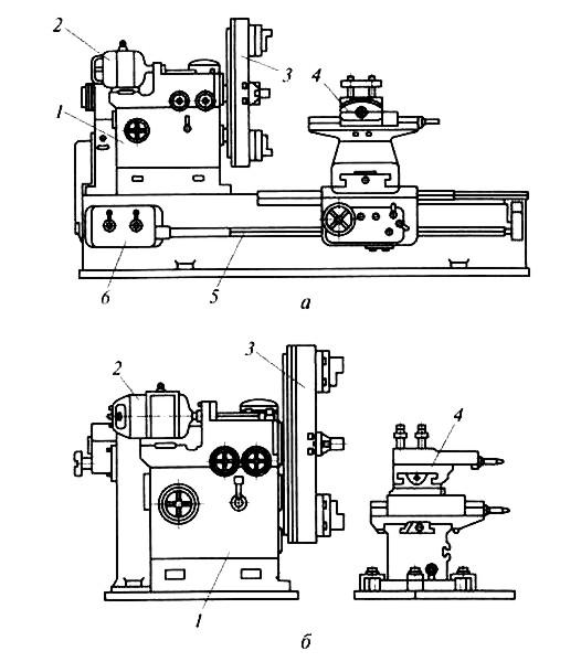 Токарный станок: схема, чертеж и характеристики станка.